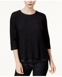 Eileen Fisher   Wool Ribbed Sweater, Regular & Petite   Lyst