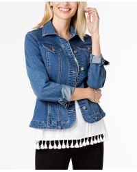 Charter Club - Stretch-twill Denim Jacket - Lyst