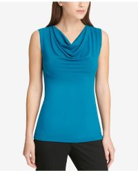 DKNY - Cowl-neck Top, Created For Macy's - Lyst