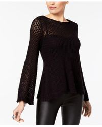 Style & Co. - Crocheted Sweater - Lyst