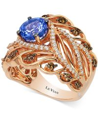 Le Vian | Tanzanite (1-1/5 Ct. T.w.) And Diamond (3/4 Ct. T.w.) Ring In 14k Rose Gold | Lyst