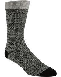 Cole Haan - Textured Crew Socks - Lyst