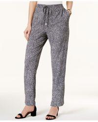 Olivia & Grace - Printed Drawstring-waist Studio Pants - Lyst