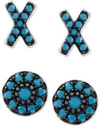 Macy's | 2-pc. Set X And O Stud Earrings In Sterling Silver | Lyst