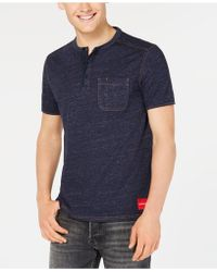 Calvin Klein - Denim-knit Baseball T-shirt - Lyst