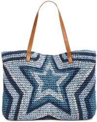 INC International Concepts - I.n.c. Marthaa Star Straw Tote, Created For Macy's - Lyst