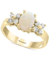 Effy Collection - Effy® Opal (2/3 Ct. T.w.) & Diamond (1/3 Ct. T.w.) Ring In 14k Gold - Lyst