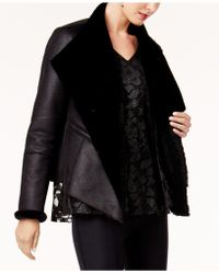 Alfani - Faux-shearling-lined Moto Jacket, - Lyst