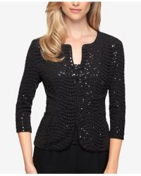 Alex Evenings - Petite Sequined Jacket & Shell - Lyst