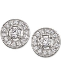 Giani Bernini - Cubic Zirconia Stud Earrings In Sterling Silver - Lyst