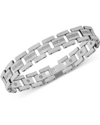 Macy's - Diamond Link Bracelet (1/3 Ct. T.w.) In Tungsten - Lyst