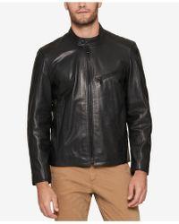 Andrew Marc - Men's Leather Moto Jacket - Lyst