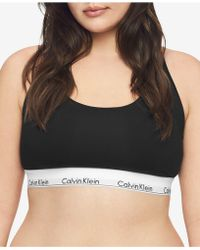 Calvin Klein - Plus Size Modern Cotton Unlined Bralette Qf5116 - Lyst