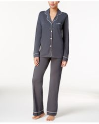 Cosabella - Bella Satin-trim Long-sleeve Pyjama Set Amore9641 - Lyst