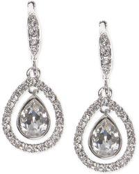 Givenchy - Crystal Orbital Pavé Drop Earrings - Lyst