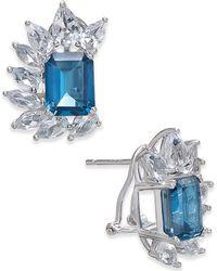 Macy's | London Blue Topaz (6 Ct. T.w.) & White Topaz (4-1/2 Ct. T.w.) Drop Earrings In Sterling Silver | Lyst