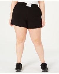 aab334f6687 Calvin Klein - Performance Plus Size Smocked-waistband Shorts - Lyst