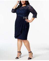 07fbc8f20de3e Lyst - Alex Evenings Plus Size Embroidered A-line Dress in Blue