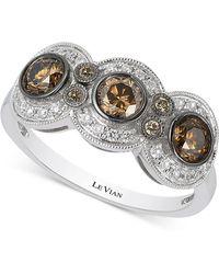 Le Vian - Chocolatier Chocolate Deco Estate Diamond (9/10 Ct. T.w.) Ring In 14k White Gold - Lyst