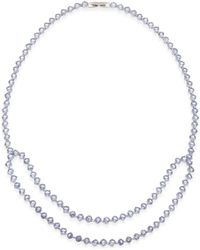 Macy's - Tanzanite (30 Ct. T.w.) And White Sapphire (1/10 Ct. T.w.) Double Row Collar Necklace In Sterling Silver - Lyst