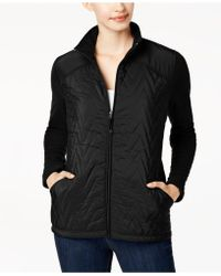 Style & Co. - Quilted Fleece-contrast Jacket - Lyst