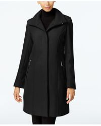 Kenneth Cole - Wool-blend Seamed Walker Coat - Lyst