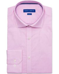 Vince Camuto - Slim-fit Comfort Stretch Coral Diamond Line Dobby Dress Shirt - Lyst