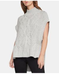 BCBGMAXAZRIA - Cable-knit Sweater Tunic - Lyst