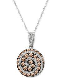 "Le Vian - Chocolatier® Diamond Spiral 18"" Pendant Necklace (1-1/4 Ct. T.w.) In 14k White Gold - Lyst"