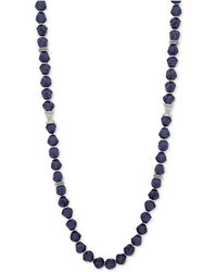"Anne Klein - Faceted Bead & Crystal 42"" Statement Necklace, Created For Macy's - Lyst"