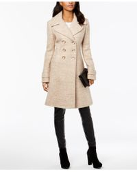 Ivanka Trump - Double-breasted Textured Coat - Lyst