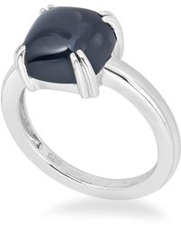 Macy's - Onyx (10mm) Curved Claw Ring In Sterling Silver - Lyst