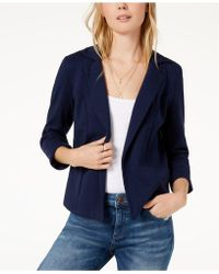 Maison Jules - 3/4 Sleeve Knit Blazer, Created For Macy's - Lyst