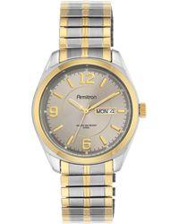 Armitron - Men's Two-tone Stainless Steel Bracelet Watch 39mm 20-4591gytt - Lyst