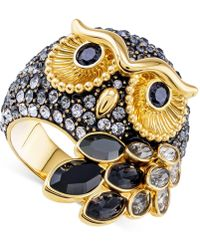 Swarovski - Gold-tone Crystal Owl Ring - Lyst