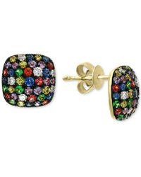 Effy Collection - Effy® Multi-sapphire (1-1/3 Ct. T.w.) & Diamond (1/6 Ct. T.w.) Stud Earrings In 14k Gold - Lyst