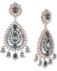 Marchesa - Gold-tone Crystal, Stone & Imitation Pearl Chandelier Earrings - Lyst