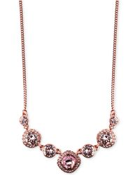 Givenchy - Rhodium-plated Crystal Frontal Necklace - Lyst