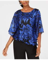 Alex Evenings - Printed Tiered Blouse - Lyst