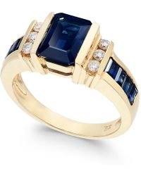 Effy Collection - Sapphire (2-1/4 Ct. T.w.) And Diamond (1/6 Ct. T.w.) Ring In 14k Gold - Lyst