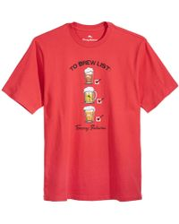 Tommy Bahama - To Brew List Graphic-print T-shirt - Lyst