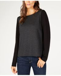 Eileen Fisher - ® Bateau-neck Colorblocked Sweater - Lyst