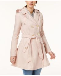 Laundry by Shelli Segal - Belted Skirted Trench Coat - Lyst