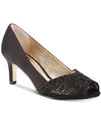 Adrianna Papell - Jude Lace Peep-toe Court Shoes - Lyst