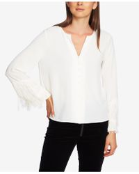 1.STATE - Fringed-sleeve Blouse - Lyst