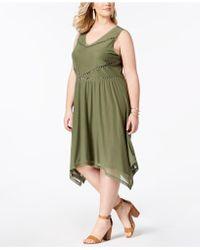 Love Scarlett - Plus Size Embellished Mesh A-line Dress - Lyst