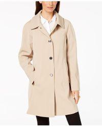 London Fog - Hooded Snap-front Raincoat - Lyst