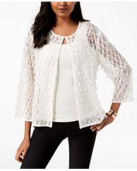Alfani - Mesh Appliqué 3/4-sleeve Jacket, Created For Macy's - Lyst