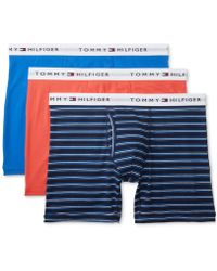 8895cf79047d Lyst - Tommy Hilfiger Striped Boxer Briefs in Blue for Men
