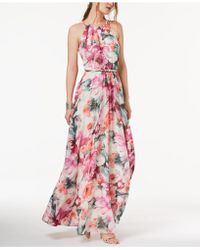 INC International Concepts - I.n.c. Petite Printed Belted Halter Maxi Dress, Created For Macy's - Lyst